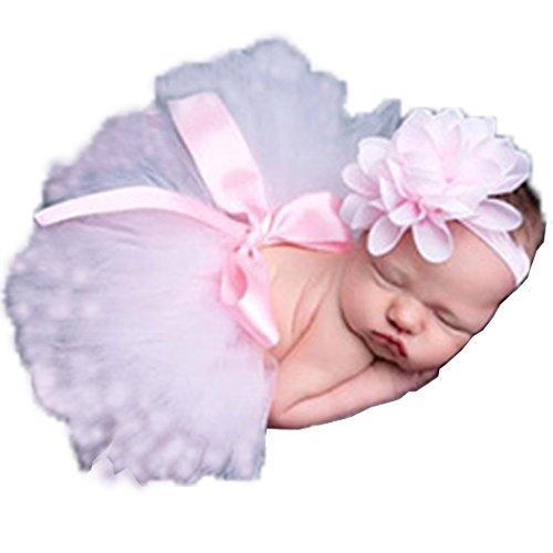 Yoliki Baby Foto Kostüm Neugeborenes Baby Rock Tutu Kleidung Trikot Prop Outfits Bekleidung Set Hellrosa Einheitsgröße