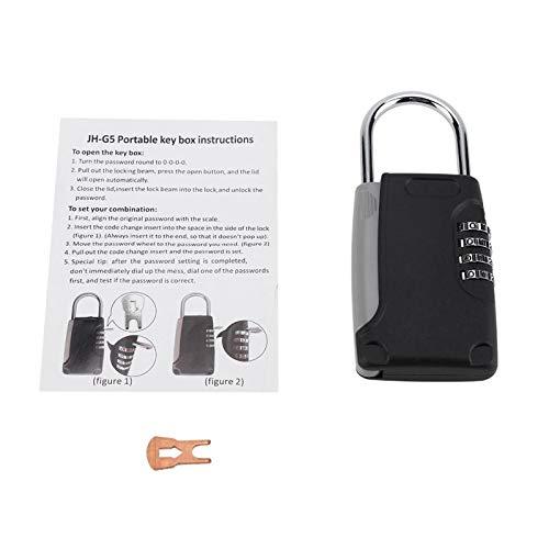Key Lock - 4 Digit Portable Travel Safe Security Keys Storage Box Holder Hanging Secret Lock Key Organizer - Boxes Bins Storage Storage Boxes Bins Secret Ring Jewellery Display Portable Safe -