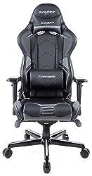 DXRacer OH/RV131/NG R131-NG Stuhl, Polyester, Schwarz/Grau, M