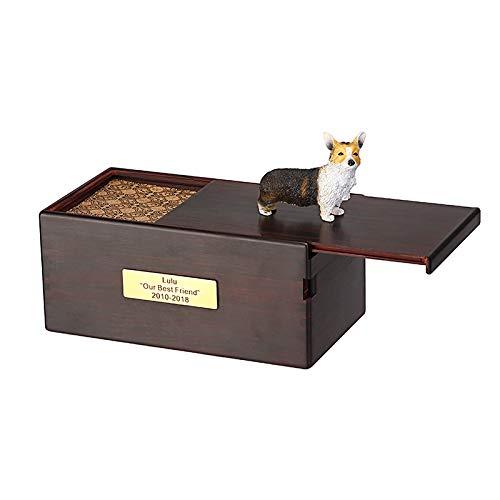 Pet Sarg, Einäscherung Produkte, Schrift, Sealed gegen Feuchtigkeit, Pet Memorial Box, Holz Pet Casket (Variety : Cocker spaniel) -