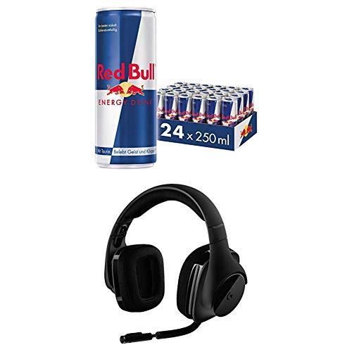 Red Bull Energy Drink Dosen Getränke 24er Palette + Logitech G533 Gaming Headset 24 Headset