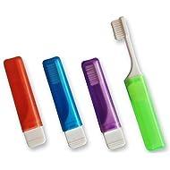 4 x Orthodontic Travel Toothbrush VTrim (Set of 4 Colours)