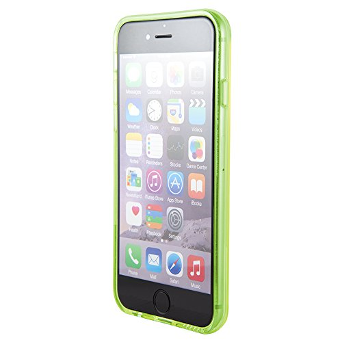 NessKa® iPhone 6 / 6S Handyhülle Silikon Hülle Schutzhülle TPU Crystal Case Bumper Back Cover Transparent / Schwarz Transparent / Grün