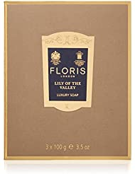 FLORIS LONDON Savons Lily Of The Valley, 3 X 100 g