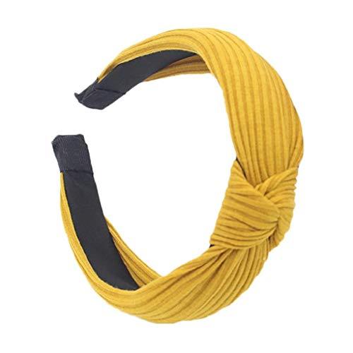 VJGOAL Damen Mädchen Mode Elegant Volltonfarbe Verknotet Haarband Stirnband Bow Knot Cross Tie Headwrap Hoop