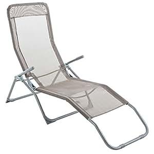 Transat / Chaise longue Siesta - Taupe