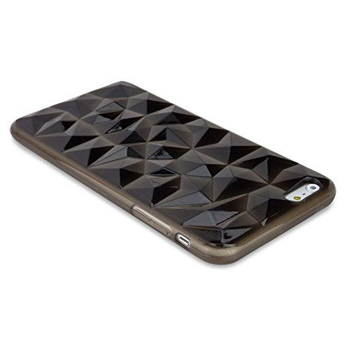 BoxWave Étui razmadaz iPhone 6Plus Coque-Coque fine en TPU Coque avec 3D à facettes en Texture Conçu pour iPhone 6Plus (Quartz fumé)