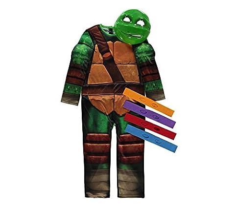 Lizenzierte Nickelodeon Teenage Mutant Ninja Turtle fancy dress 7-8 Jahre, Maske 4 & Eyebands von Rubies für (Shredder Schildkröten Kostüm)