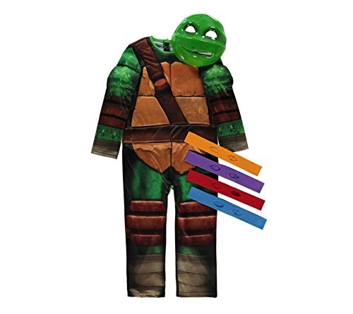 Lizenzierte Nickelodeon Teenage Mutant Ninja Turtle fancy dress 7-8 Jahre, Maske 4 & Eyebands von Rubies für (Splinter Kostüm Turtles Ninja)