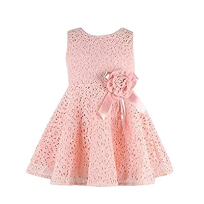 WINWINTOM Girls Full Lace Floral One Piece Dress