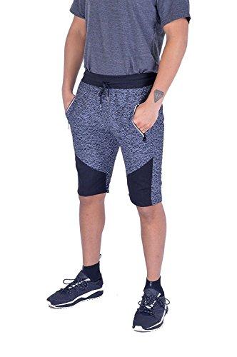 Men Boys Side Zip Slim Fit Summer Gym Casual Short Pants -