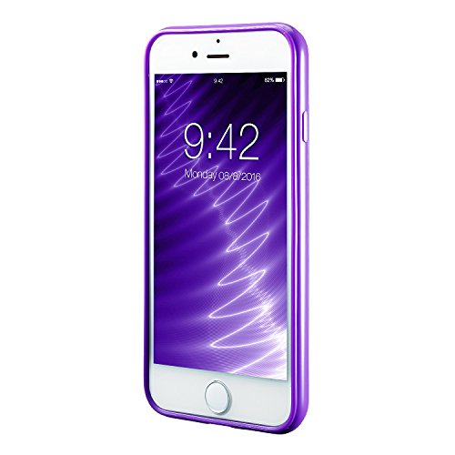 iPhone 8 Silikon Hülle ,iPhone 7 hülle, Apple iPhone 8 Silikon Abdeckung Stoß- Dünn Glanz Gel Stoßstange Flexibel und Weich Apple iPhone 7 &iPhone 8 4,7 TPU Hellblau Violett