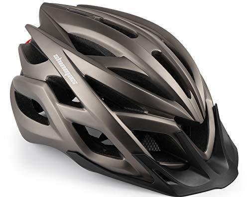 Shinmax Fahrradhelm, Fahrrad Helm Mit LED-Warnleuchte Berg Autobahn StVZO Beleuchteter Helm berghelm männer & Frauen Reiten für Erwachsene Beleuchtung Scheinwerfer Warnlichter auf Warnung Rücklicht