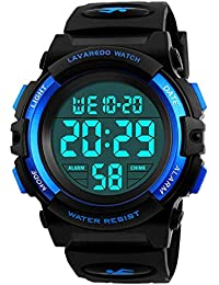 Reloj Digital Para Niños, Reloj De Los Niños Deporte LED Impermeable Alarma Calendario Luminoso Multifuncional Cronógrafo Reloj De Pulsera Para Niños