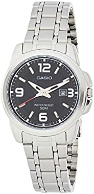 Casio Womens Quartz Watch, Analog Display and Stainless Steel Strap LTP-1314D-1A