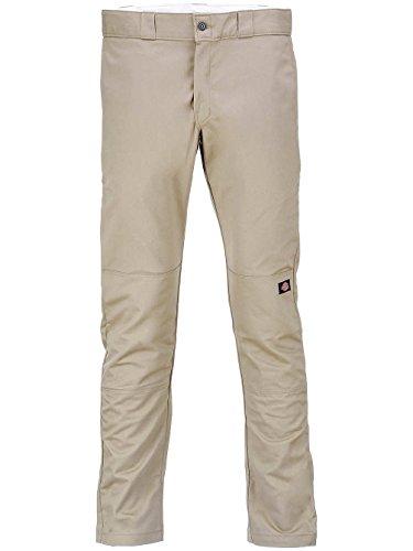 Dickies Skinny Fit Double Knee Work, Pantalon Homme, 30W X 32L Beige