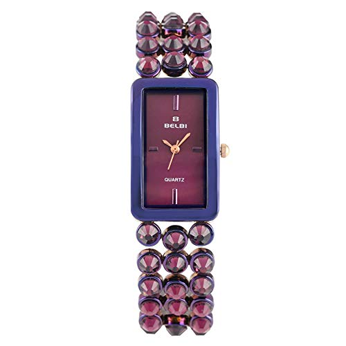 Premium Strap Watch for Woman, Personalized Waterproof Function Watches for Ladies, Elegant Square Watch...