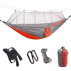 KUNGFU Tissu de Parachute en Nylon pour Voyage en Camping élargi et prolongé avec Un Double hamac extérieur (300 * 200CM) D