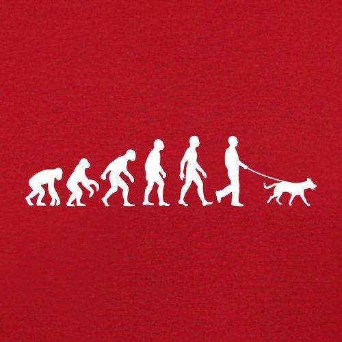 Evolution of Man - Hundebesitzer - Herren T-Shirt - 10 Farben Rot