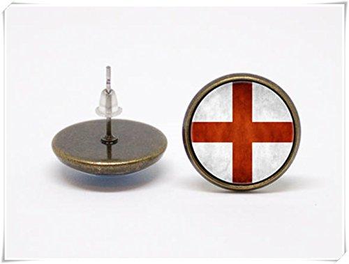 England Flagge Ohrringe Patriotische Ohrringe Flaggen Schmuck (Patriotische Ohrringe)