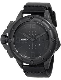 Welder 2701 - Reloj unisex, correa de cuero color negro