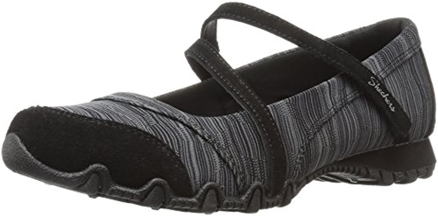 Skechers Relaxed Fit Bikers Ripples Shoes Black