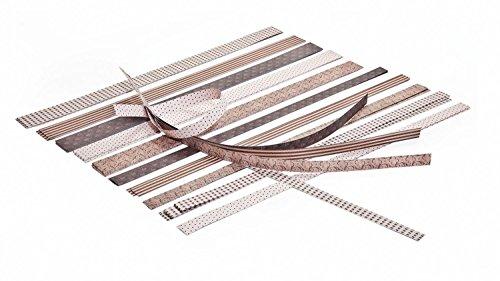 CREAVVEE® Papierstreifen für Fröbelsterne BRAUN/BEIGE OSLO Design, 60 Stck sortiert