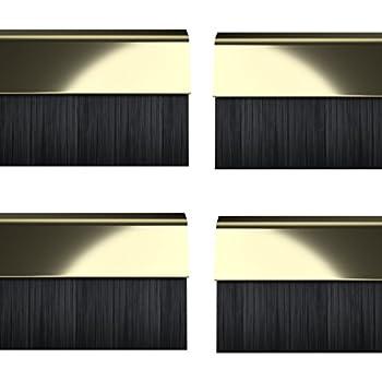 Stormguard 02/Am0020838bl BDS Coque Clip en bas de la porte brosse Bourrelet d/étanch/éit/é lot de 4/pi/èces Noir 838/mm