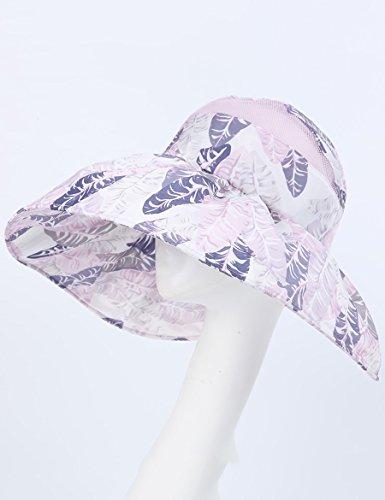 Chapeau de soleil en plein air d'été Le chapeau de soleil de marée de dames plie grand le long du chapeau supérieur vide (une variété de couleurs peut être utilisée pour choisir) ( Couleur : 5 ) 5