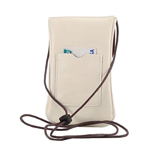 wkae Schutzhülle Case & Cover Universal Vertikal PU Leder Case/Leder Tasche mit String für iPhone 6S Plus, Samsung Galaxy Note 5& Note4/S7/S6Edge +, Huawei P8und P7/HONOR 6 weiß