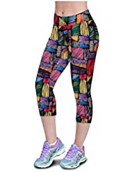 Pantalones mujer deporte Sannysis YOGA Pantalones Mallas para mujer, color (02, M)