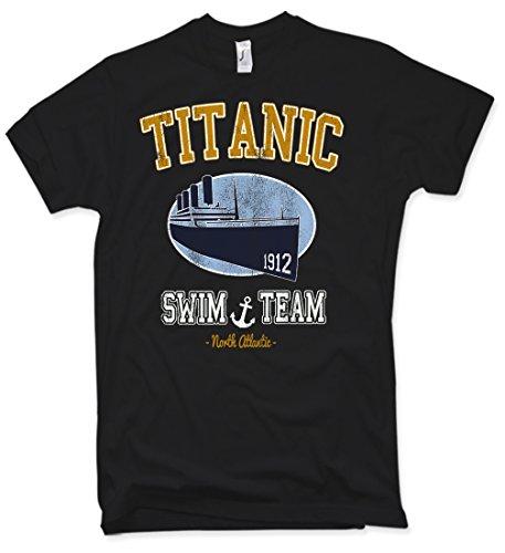 Titanic Swim Team T-Shirt, Oldschool, Retro, Verschiedene Farben, Gr. S - XXL (Lustige Schwimmer Tshirt)