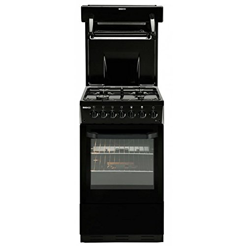 Beko BA52NEK 50cm Single Oven Gas Cooker With High Level Grill – Black