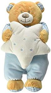 Venturelli- Peluche Baby Oso con Estrella Grande Primera Infancia Peluches 852, Multicolor, 8004332851349