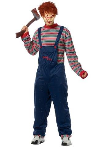 Kostüm Kultur durch Franco LLC Jungen Chucky-Kostüm für Erwachsene Gr. Small, Blau - Blau (Chucky Die Puppe Kostüm)