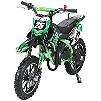 Kinder Mini Crossbike Gepard 49 cc 2-takt inklusive Tuning Kupplung 15mm Vergaser Easy Pull Start verstärkte Gabel Dirt Bike Dirtbike Pocket Cross