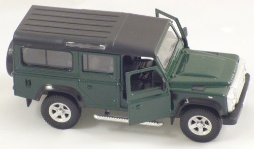 Preisvergleich Produktbild 13cm Grün Die Cast RMZ Landrover Defender Pull Back And Go Vehicle [Spielzeug]