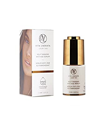 VITA LIBERATA Anti Ageing Face Serum - Self Tanning Anti Age Serum & Organic Face Tan 15 ml by Vita Liberata