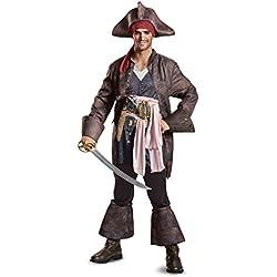 Traje de Capitán Jack Sparrow, XL.