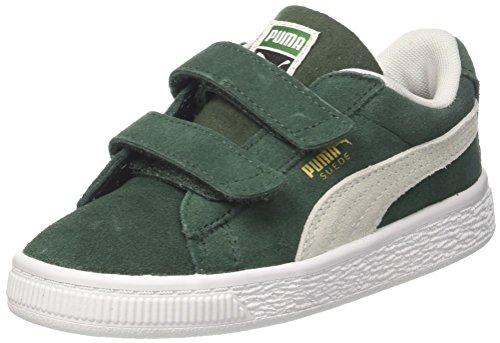 Puma Unisex-Kinder Suede Classic V Inf Sneaker Grün (Pineneedle White), 25 EU