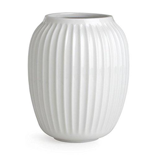 Kähler Hammershøi Vase, Keramik, Weiß, 20 x 16,5 cm (Große Keramik Vasen)