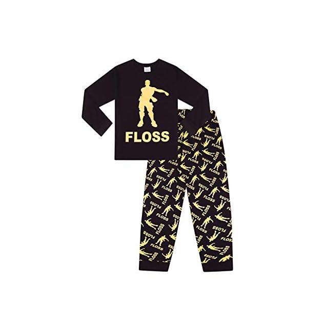 4baa680014b6e The Pyjama Factory - Ensemble de Pyjama - Garçon Noir Noir - Noir - 13 Ans  ...