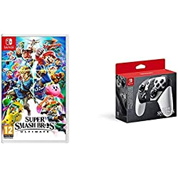 Super Smash Bros Ultimate - Standard - Nintendo Switch + Nintendo Switch: Pro Controller - Super Smash Bros Ultimate Edition - Limited