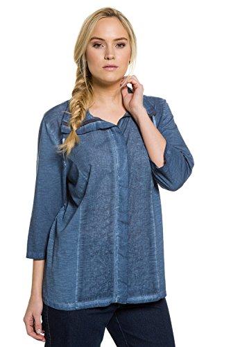 Ulla Popken Femme Grandes tailles Veste légère 704998 bleu océan