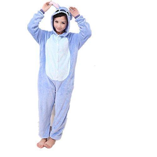 Erwachsene Kigurumi Lilo /& Stich Cosplay Kostüm Body Schlafanzüge Overall