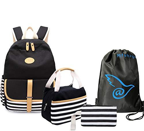 4 Teile Set Causal Rucksack Freizeitrucksack Daypacks Backpack