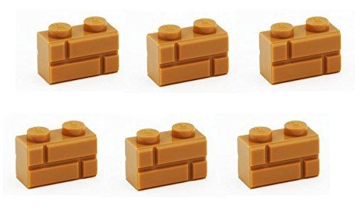lego-parts-brick-modified-1-x-2-with-masonry-brick-pack-of-6-medium-dark-flesh