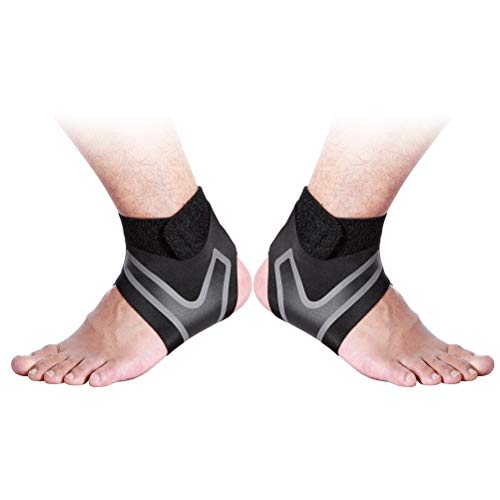LIOOBO 1 Pair Sports Ankle Support Stretchy Ankle Brace for Exercise Basketball Ankle Sprain High Heel Wrap-around