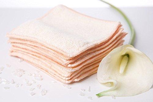 time spring Abschminkpads wiederverwendbar, die waschbare - ökologische Hautreinigung Kosmetiktücher ohne Chemie, Abschminken mit Wattepad-Ersatz, mit den Mikrofaser (8 Stück pro Packung)