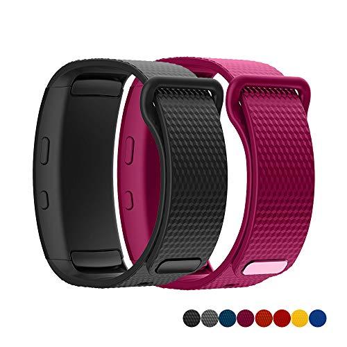 TOPsic Armband für Samsung Gear Fit2 / Gear Fit 2 Pro Armband, Ersatz Silikon Armband Armband Uhrenarmband für Gear Fit 2 Pro SM-R365 / Gear Fit2 SM-R360 - S Große Uhrenarmbänder X Gear Für